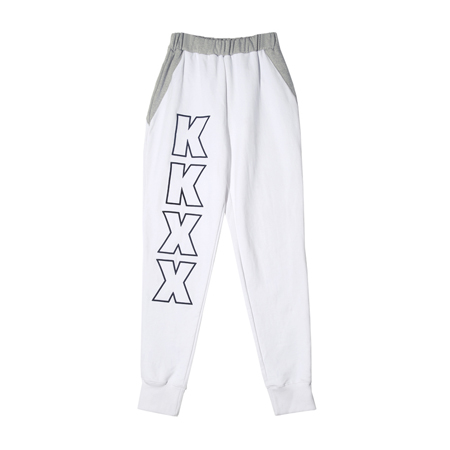 ROUND SWEAT PANTS(M) GY