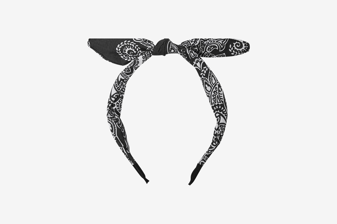 Bandana print ribbon headband