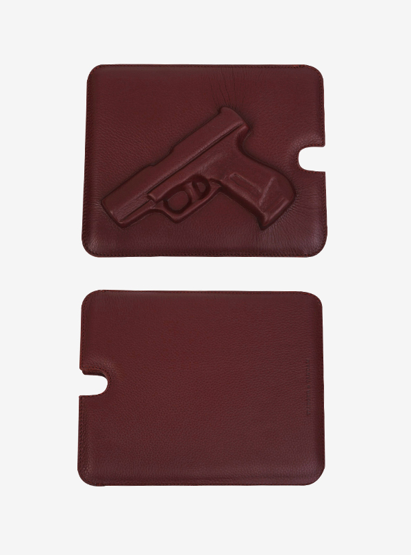 SOFTIQUE GA IPAD CASE GUN/BURGUNDY